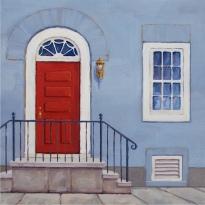 """Red Door #1, 12""""x12"""""""