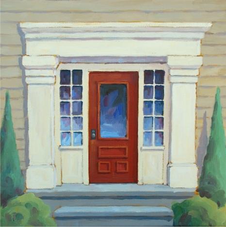 """Red Door #2, 12""""x12"""""""