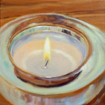 "Tea Light, 12""x12"""
